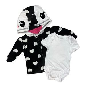 Penguin sweater and bodysuit set